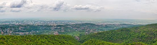 Panorama of the Zagreb Stock Images