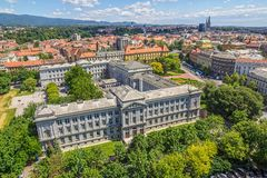 Panorama of Zagreb Stock Images