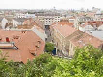 Panorama of Zagreb from the Upper Town Royalty Free Stock Images