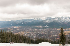 Panorama of Zakopane in Tatra Mountains Stock Photo