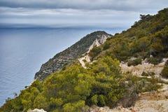 Panorama of Zakynthos before storm, Ionian islands, Greece Stock Image