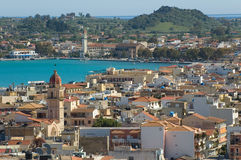 Panorama of Zante town Stock Images