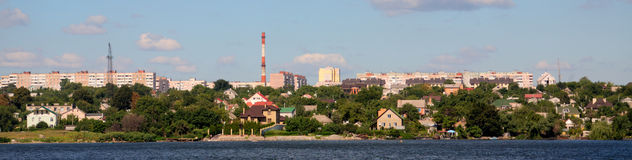 Panorama of Zaporozhye, Ukraine Royalty Free Stock Photos