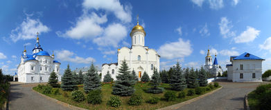 Panorama of Zilant's orthodox monastery in Kazan Royalty Free Stock Images