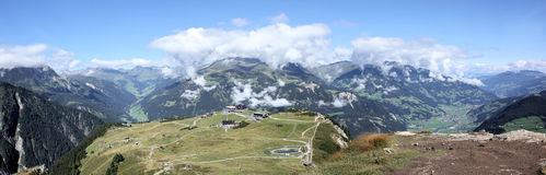 Panorama of Zillertal Stock Photos