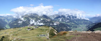 Panorama of Zillertal Royalty Free Stock Photography
