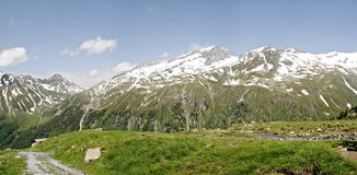 Panorama of the Zillertal Alps Stock Images