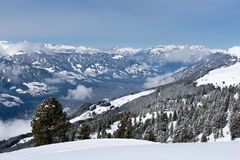 Panorama of the Zillertal from Karspitz Mountain, Austria Stock Photography