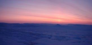 Panorama zimy tundra (północny Syberia) Fotografia Stock