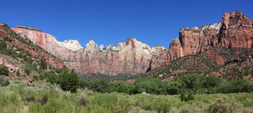 Panorama of Zion National Park Stock Image