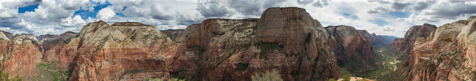 Panorama of Zion National Park Stock Photo