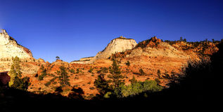 Panorama,Zion National Park Royalty Free Stock Images