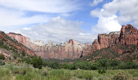 Panorama of Zion National Park Royalty Free Stock Photos
