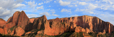 Panorama in Zion national Park. Royalty Free Stock Images