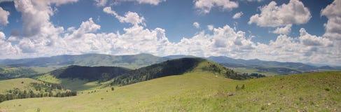 Panorama of Zlatibor mountain and clouds in Serbia Stock Photos