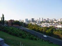 Panorama zu Rostow-Stadt Stockbild