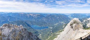Panorama from Zugspitze Stock Photo