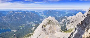 Panorama from Zugspitze Stock Image