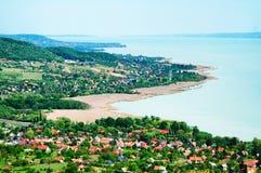 Panorama zum See Balaton Stockfotografie