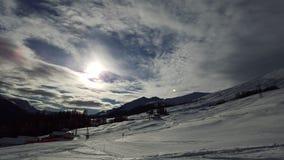 Panorama in Zuoz Lizenzfreie Stockfotografie