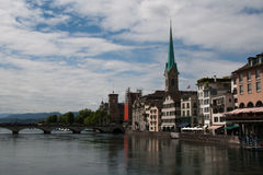 Panorama of Zurich Stock Photography