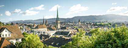 Panorama of Zurich, Switzerland Stock Photography