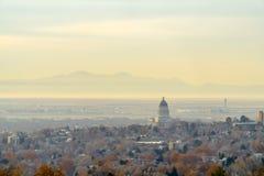 Panorama zwarty Salt Lake City śródmieście fotografia stock