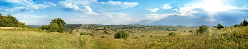 Panorama of Zwierzyniec in Poland Royalty Free Stock Images