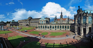 Panorama of the Zwinger Palace in Dresden Stock Photos