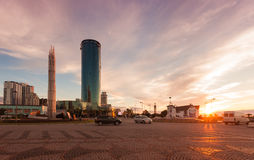 Panoramaafton Batumi royaltyfri foto