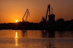 Panoramaansicht über das Meer, Sonnenuntergang stockbild