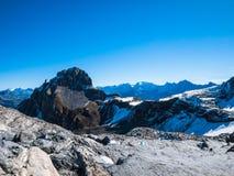 Panoramaansicht der Alpen Stockfotografie