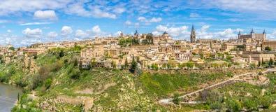 Panoramaansicht an der Stadt von Toledo Lizenzfreies Stockfoto
