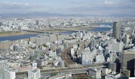 Panoramaansicht des Osaka-Schachtes lizenzfreie stockfotos