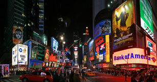Panoramaansicht des Times Square Lizenzfreies Stockfoto