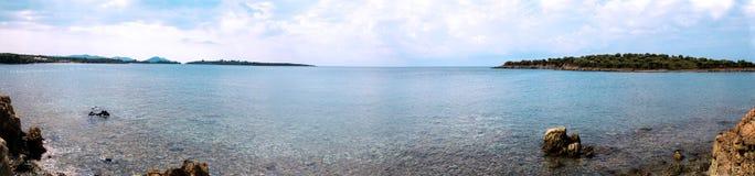 Panoramaansicht von Ägäischem Meer, Griechenland Lizenzfreie Stockfotografie