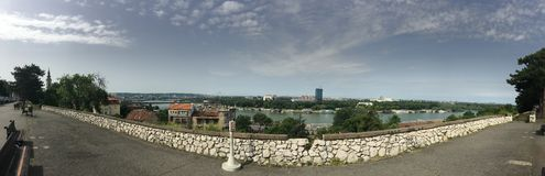Panoramaansicht von Belgrad-Festung Stockfoto