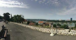 Panoramaansicht von Belgrad-Festung Stockbilder