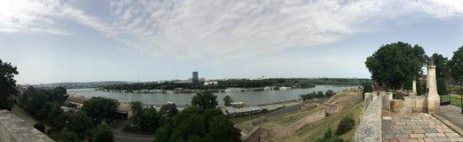 Panoramaansicht von Belgrad-Festung Lizenzfreie Stockfotos