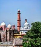 Panoramaansicht von Lahore-Fort, von Badshahi-Moschee und von Samadhi von Ranjit Singh Lahore, Punjab, Pakistan lizenzfreie stockfotos