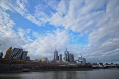 Panoramaansicht von Melbourne-Stadt Australien im Jahre 2011 Stockfotografie