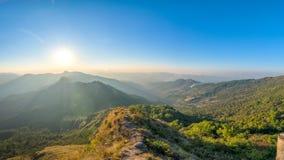 Panoramaansicht von Phu-Chi Dao-Standpunkt in Chiang Rai, Thailand stockfoto