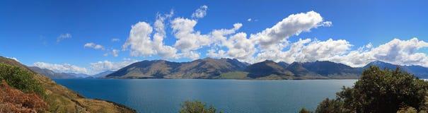 Panoramaansicht von See Wanaka Stockbild