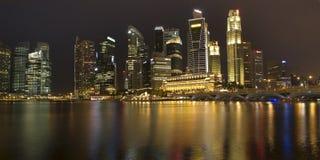 Panoramaansicht von Singapur Stockbild