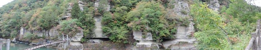 Panoramaansicht von Zu-keinem-Hetsuri herein Japan lizenzfreies stockfoto