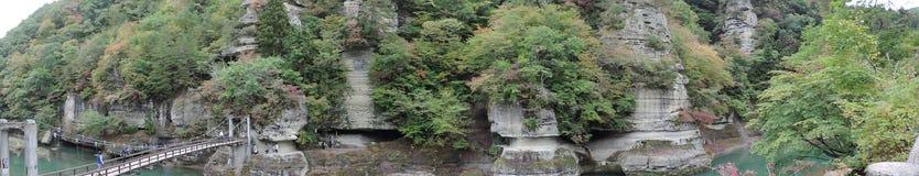 Panoramaansicht von Zu-keinem-Hetsuri herein Japan stockfoto