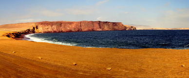Panoramabaai in Paracas Stock Fotografie