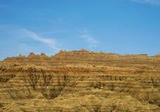 PanoramaBadlands nationalpark, South Dakota, USA royaltyfri fotografi