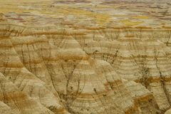 PanoramaBadlands nationalpark, South Dakota, USA arkivbilder
