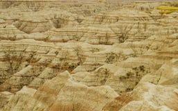 PanoramaBadlands nationalpark, South Dakota, USA royaltyfri bild